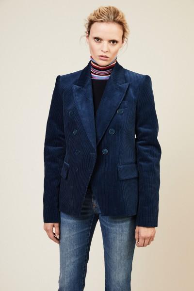 Baumwoll-Cord-Blazer Blau