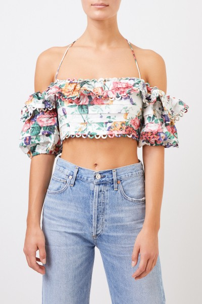Zimmermann Crop top with floral pattern Multi
