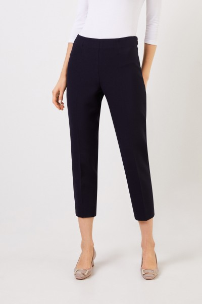 Cappellini Pants with slit hems Navy Blue