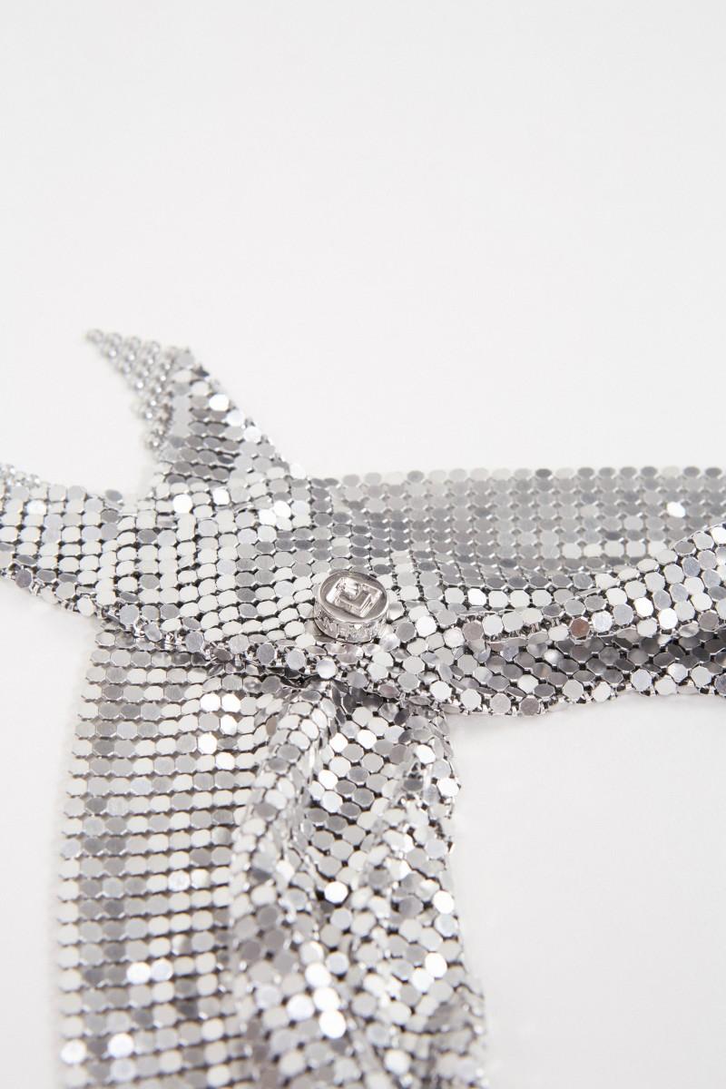 Schal aus Metallmesh Silber