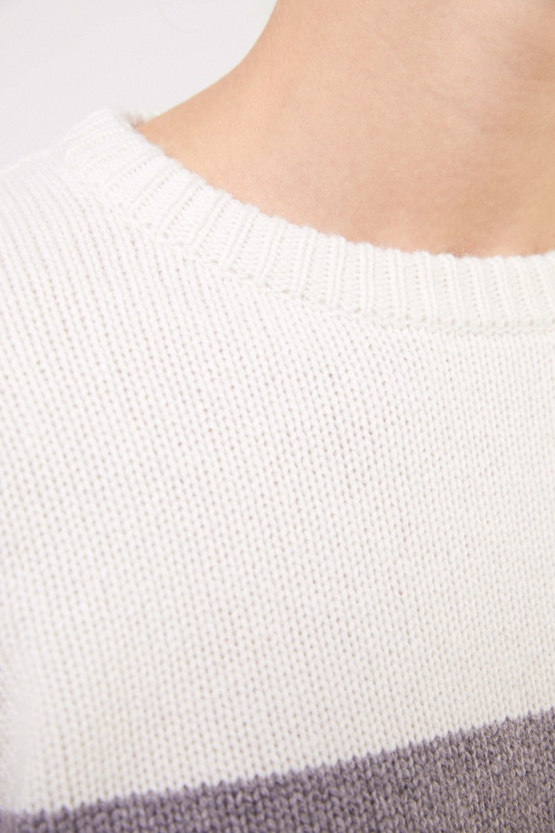 Uzwei Cashmere-Pullover in Colorblock Multi/Rost