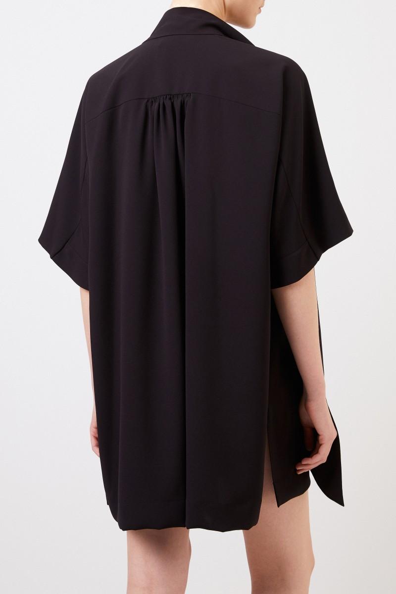 Kurzes Kleid mit Schluppendetail Schwarz