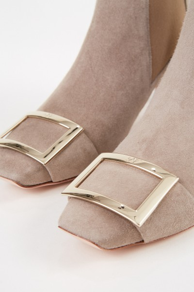 Roger Vivier Suede leather ankle boots 'Trompette Chelsea' Taupe