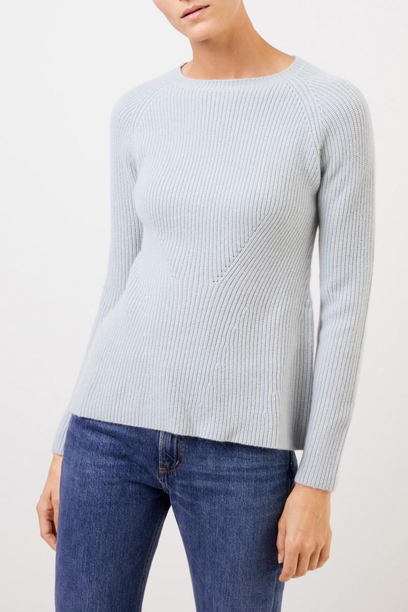 UZWEI Cashmere-Pullover mit Strickdetail Seegrün