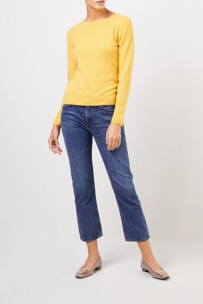 Uzwei Cashmere-Pullover mit R-Neck Gelb