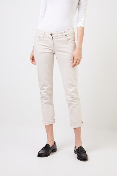 Brunello Cucinelli Klassische Jeans Beige