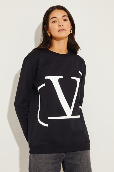 Sweatshirt mit Logo-Aufdruck Schwarz