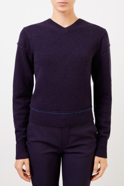 Chloé Wool cashmere pullover with back detail Evening