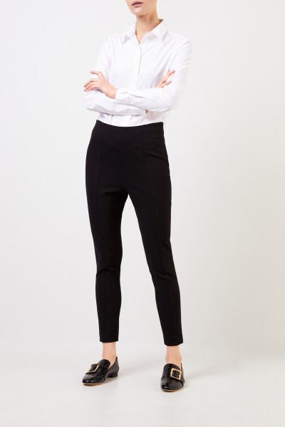 High rise trousers Black