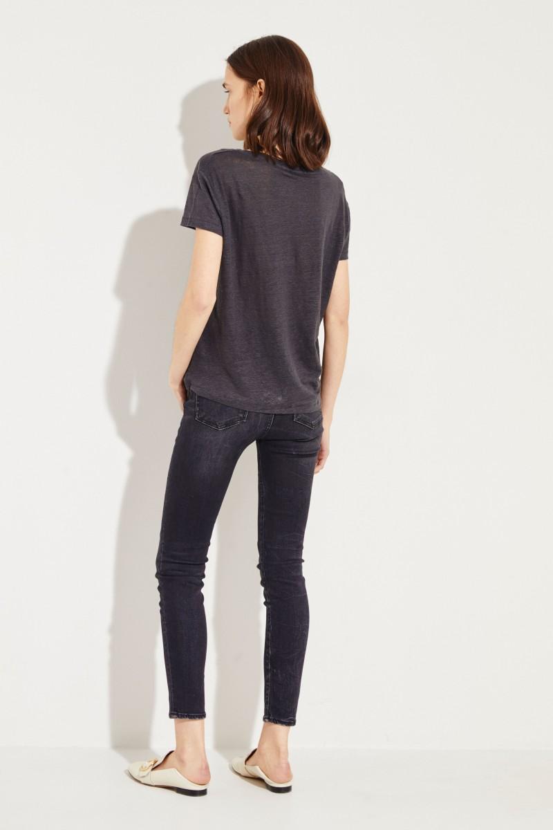 Leinen-Shirt 'Eldora' Grau