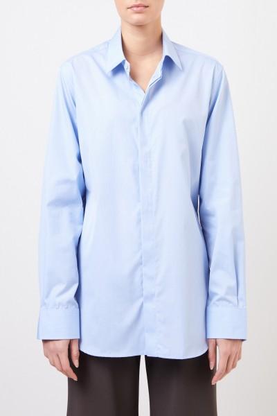 Bottega Veneta Classic cotton-blouse Light Blue