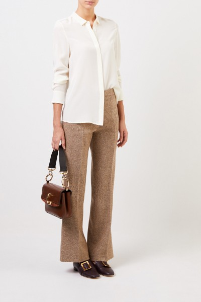 Etro Wool trousers with herringbone pattern Beige
