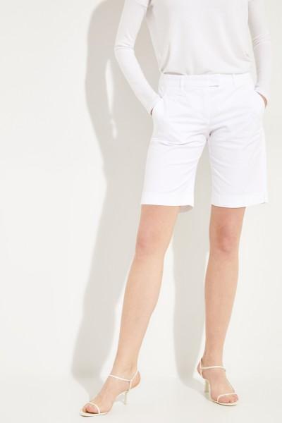 Baumwoll-Bermuda 'Vicky' Weiß