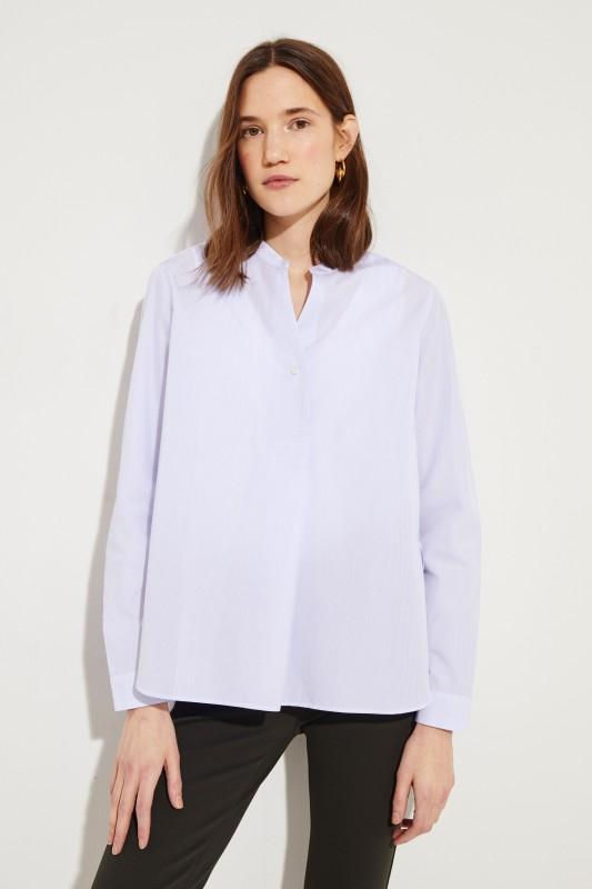 Gestreifte Bluse Blau/Weiß