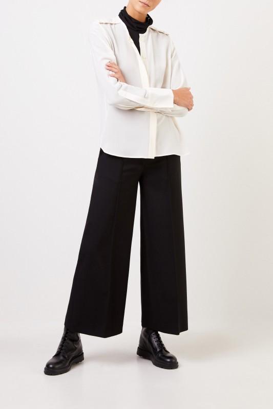 Stella McCartney Seidenbluse mit Applikationen Weiß