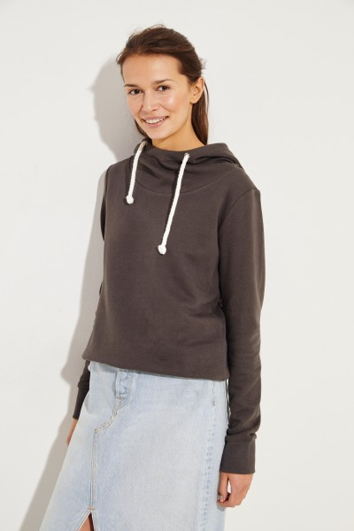 Hooded hoodie Brown