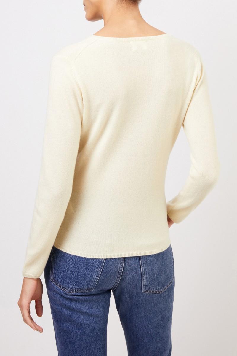Uzwei Cashmere-Pullover mit V-Neck Hellgelb