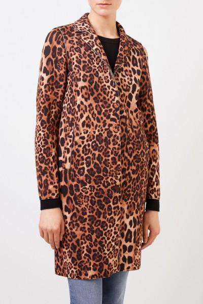NUSCO 2107 Short coat with leoprint Multi
