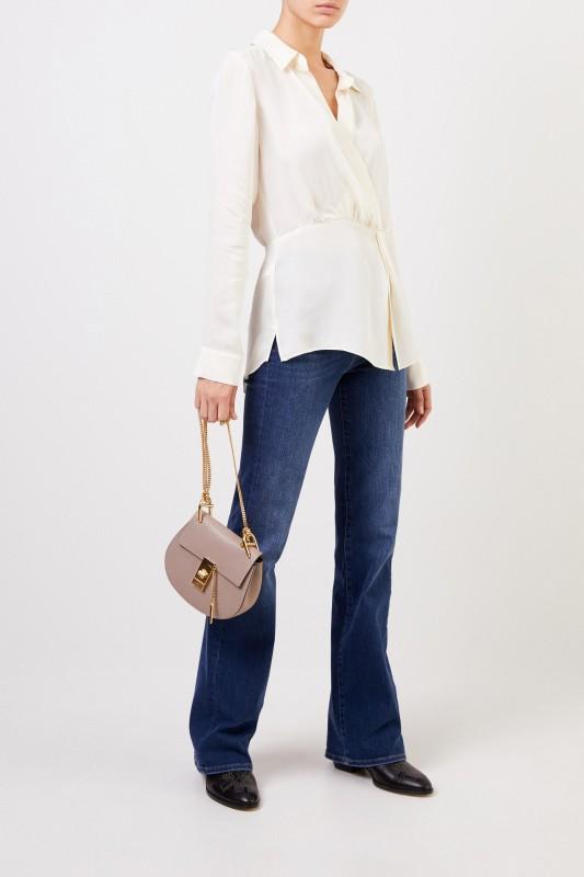 Veronica Beard Silk blouse 'Clyde' cream white