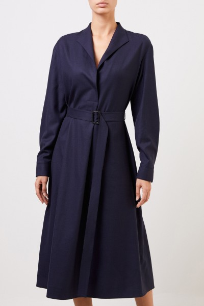 The Row Woll-Hemdblusenkleid 'Tula' Marineblau