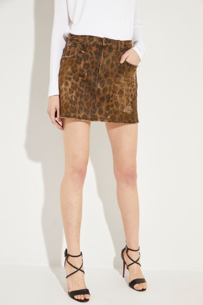 High Rise Mini-Rock mit Leoprint Multi