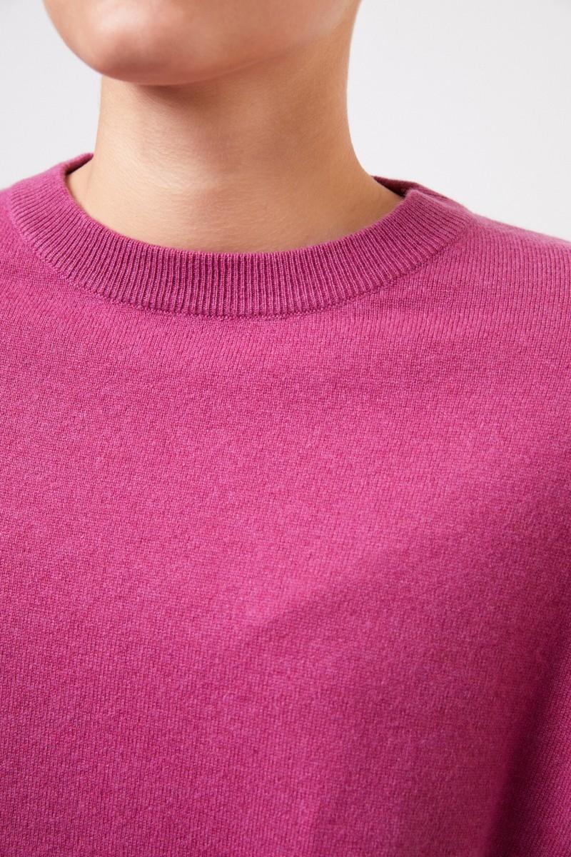 Brunello Cucinelli Cashmere-Pullover mit Perlenverzierung Pink