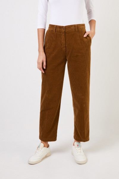 Aspesi Classic corduroy trousers Brown