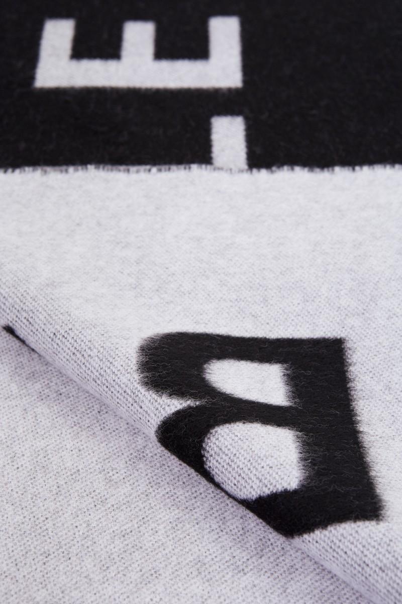 Woll-Schal mit Logo Schwarz/Weiß