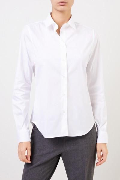 Artigiano Klassische Baumwoll-Bluse 'Teresa' Weiß