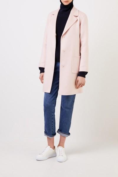 Classic cashmere coat Light Pink