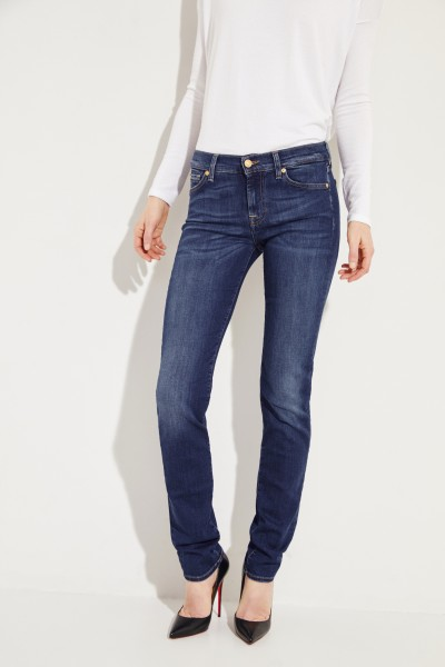 7 for all mankind Skinny 'Mid Rise Roxanne' Blau