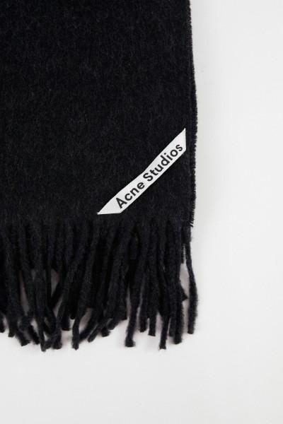 Acne Studios Klassischer Wollschal 'Canada New' Schwarz Mélange
