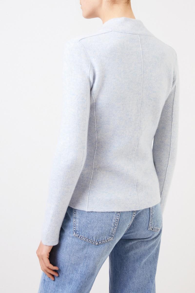 Iris von Arnim Doubleface Cashmere-Blazer 'Pacita' Hellblau