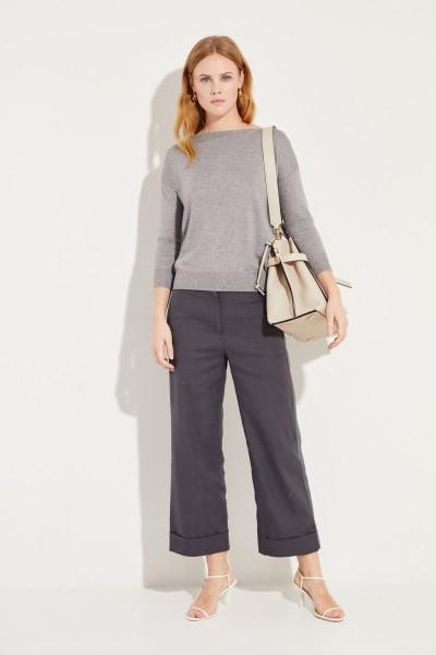 Seiden-Cashmere-Pullover Grau