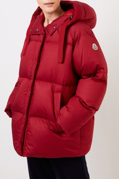 Moncler Hooded down jacket Red