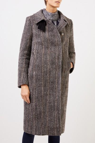 Stella McCartney Wool coat with herringbone pattern Multi
