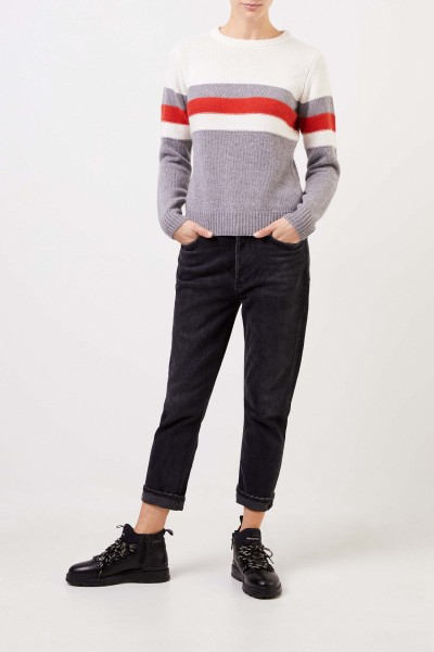 Uzwei Cashmere pullover in colorblock Multi/Rust