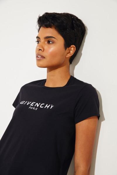 T-Shirt mit Logo Schwarz