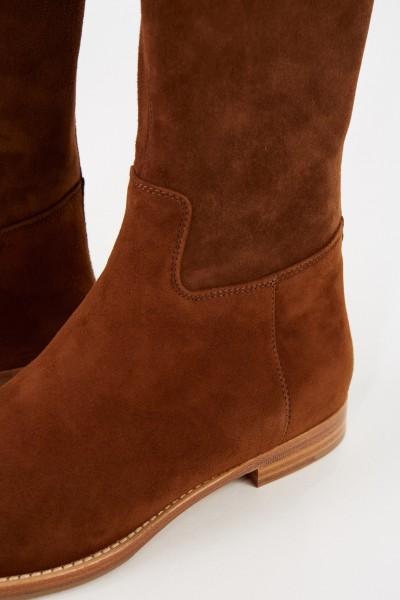 Unützer Suede leather boots Cognac