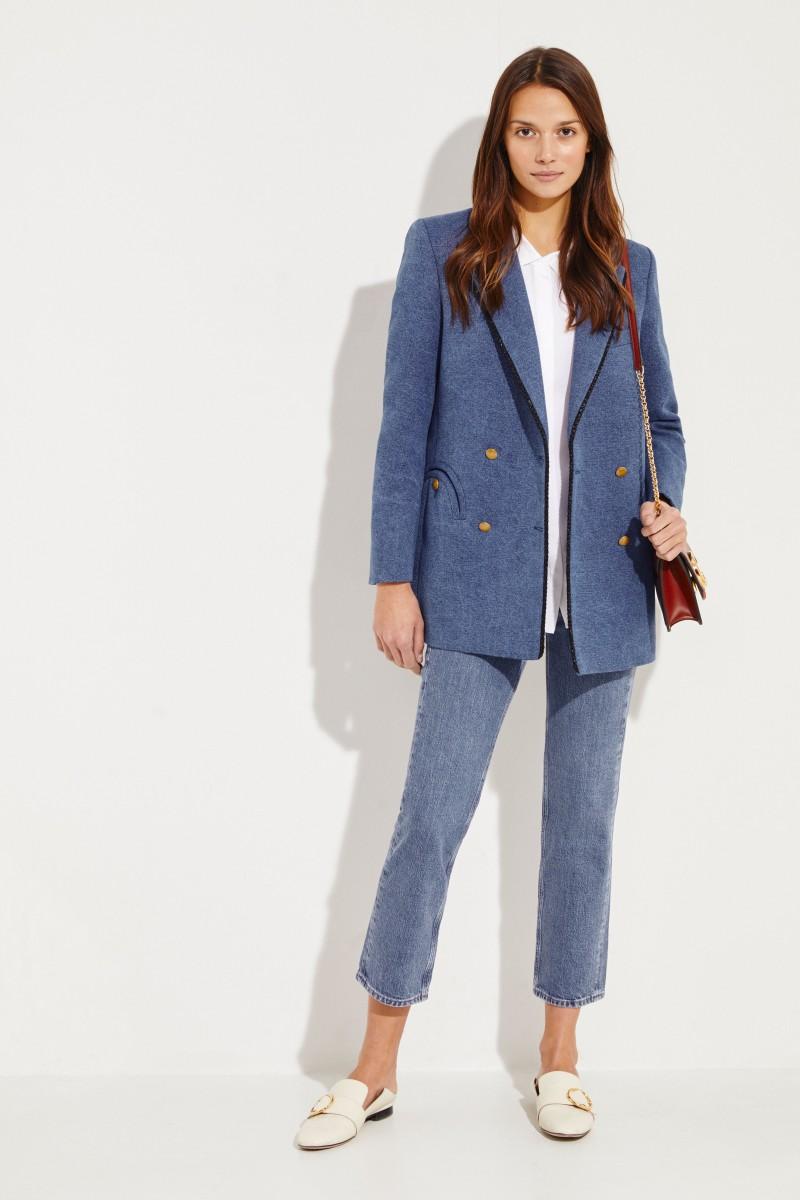 Baumwoll-Leinen-Blazer 'Blunose Everyday' Blau