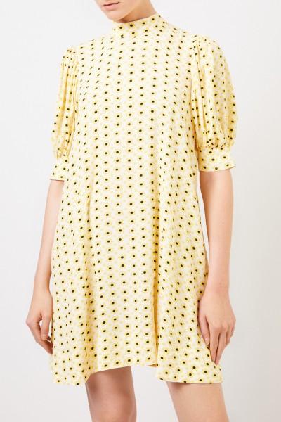 Ganni Kurzes Kleid mit floralem Print Multi