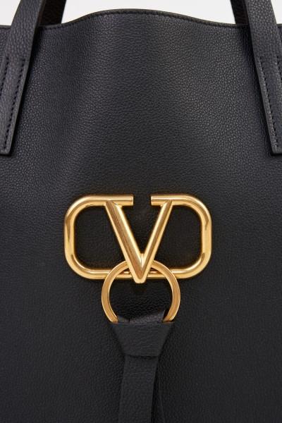 Valentino Shopper mit Logo Schwarz