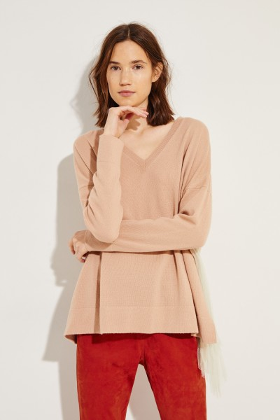 Oversize Cashmere-Pullover Nude