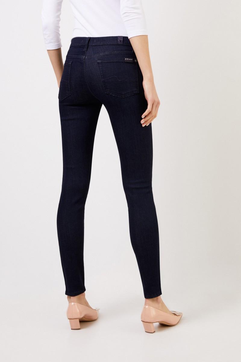 7 for all mankind Skinny Jeans 'The Skinny' Dunkelblau