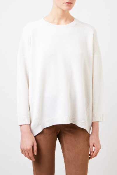 Valentino Cashmere sweater with shortened front Cream