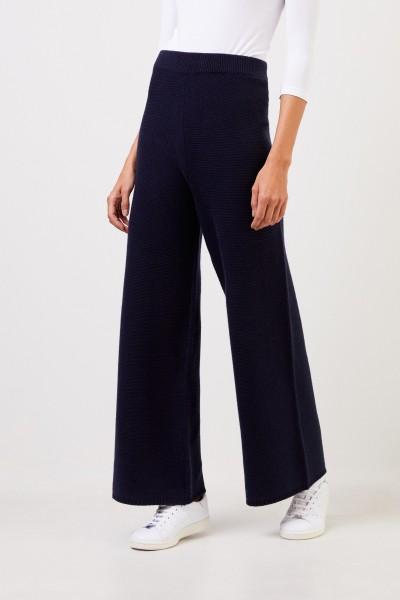 UZWEI Cashmere-Hose mit weitem Bein Marineblau