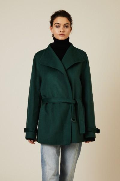 Woll-Cashmere Kurzmantel 'New Lima' Grün