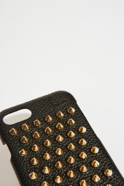 Christian Louboutin IPhone Case 7/8 with rivet details Black
