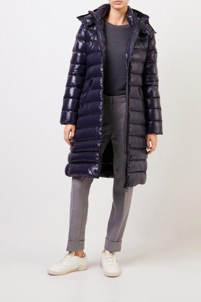 Moncler Long down coat 'Moka Giubbotto' Blue