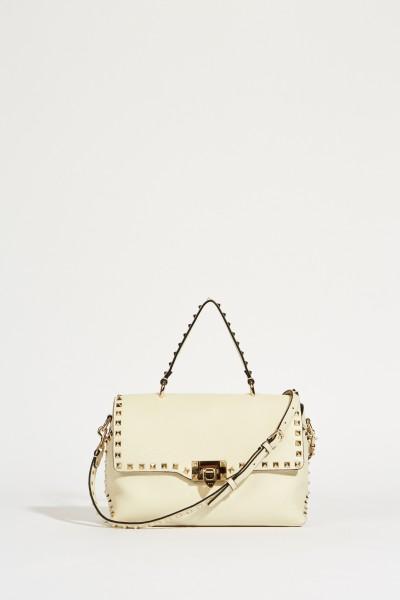 Handtasche 'Rockstuds' mit Nieten Crèmeweiß